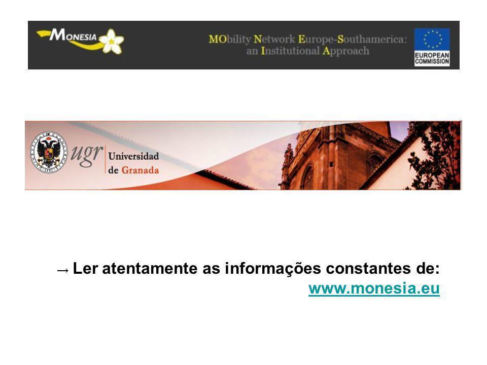 → Ler atentamente as informações constantes de: www.monesia.eu www.monesia.eu