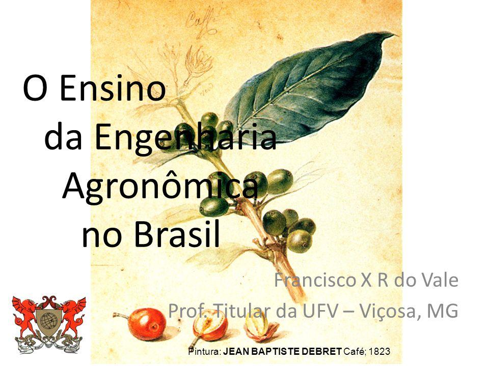 O Ensino da Engenharia Agronômica no Brasil Francisco X R do Vale Prof.