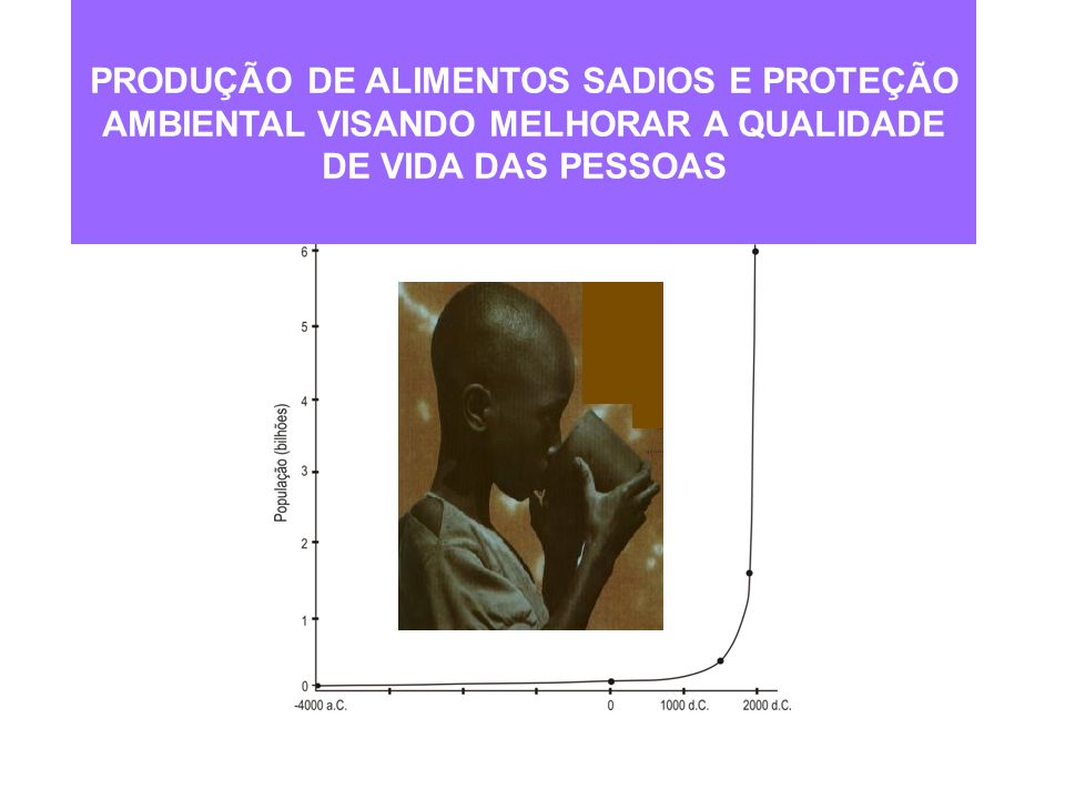 PRODUÇÃO DE ALIMENTOS SADIOS E PROTEÇÃO AMBIENTAL VISANDO MELHORAR A QUALIDADE DE VIDA DAS PESSOAS