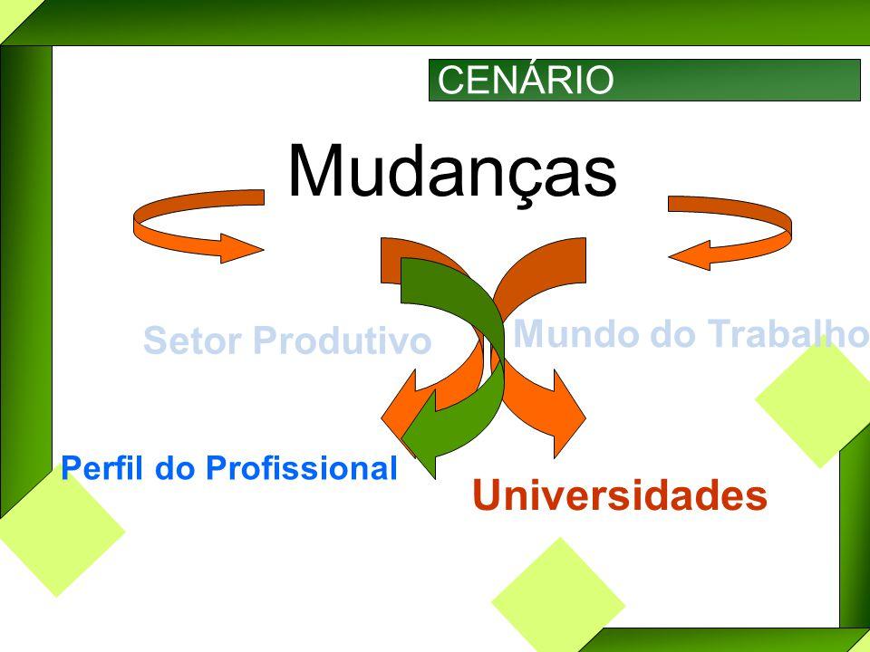 CENÁRIO Mudanças Setor Produtivo Mundo do Trabalho Perfil do Profissional Universidades
