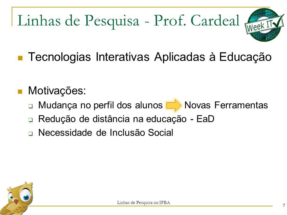 Linhas de Pesquisa - Prof.