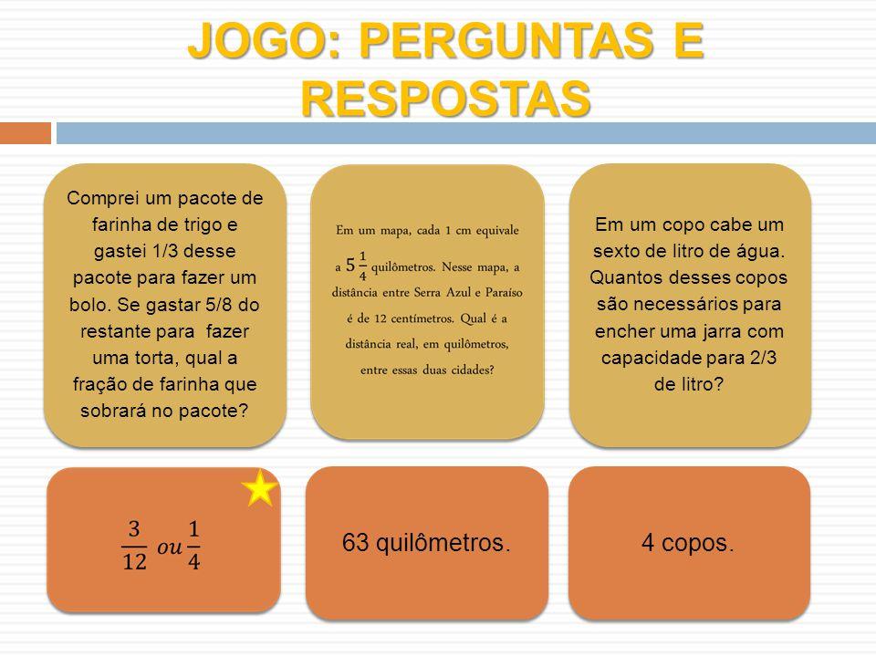JOGO: PERGUNTAS E RESPOSTAS 11 aventais.