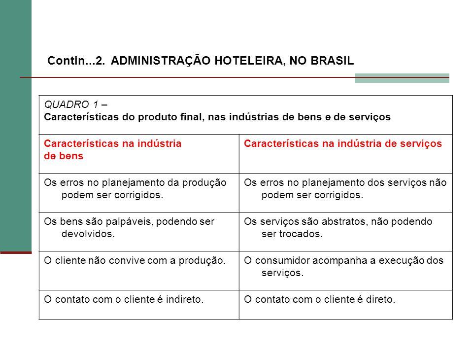 QUADRO 1 – Características do produto final, nas indústrias de bens e de serviços Características na indústria de bens Características na indústria de