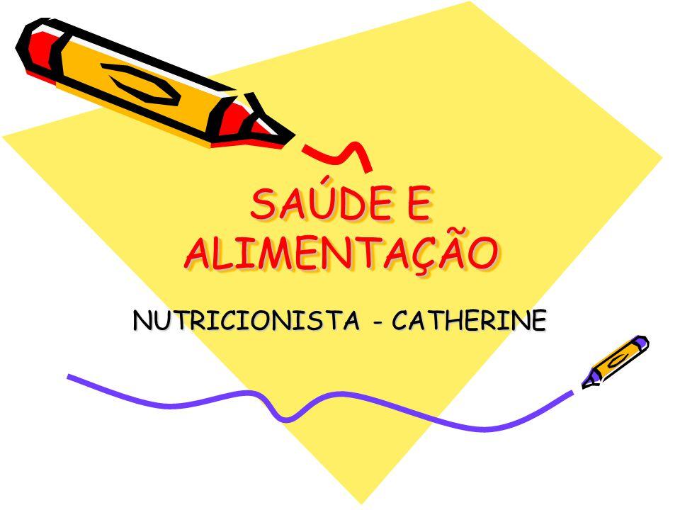 SAÚDE E ALIMENTAÇÃO NUTRICIONISTA - CATHERINE