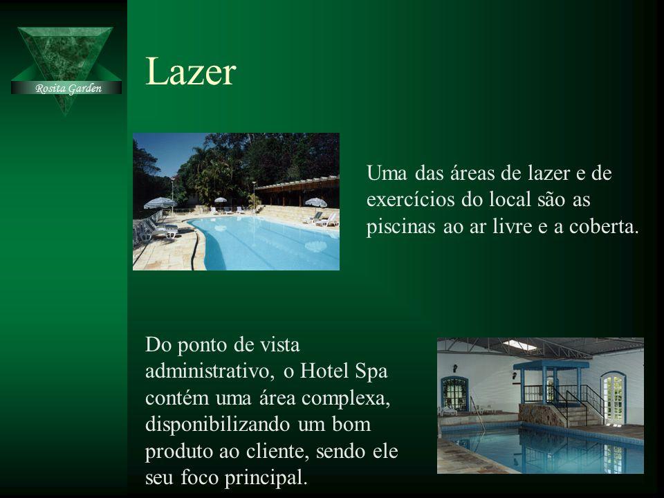 Lazer Uma das áreas de lazer e de exercícios do local são as piscinas ao ar livre e a coberta. Do ponto de vista administrativo, o Hotel Spa contém um