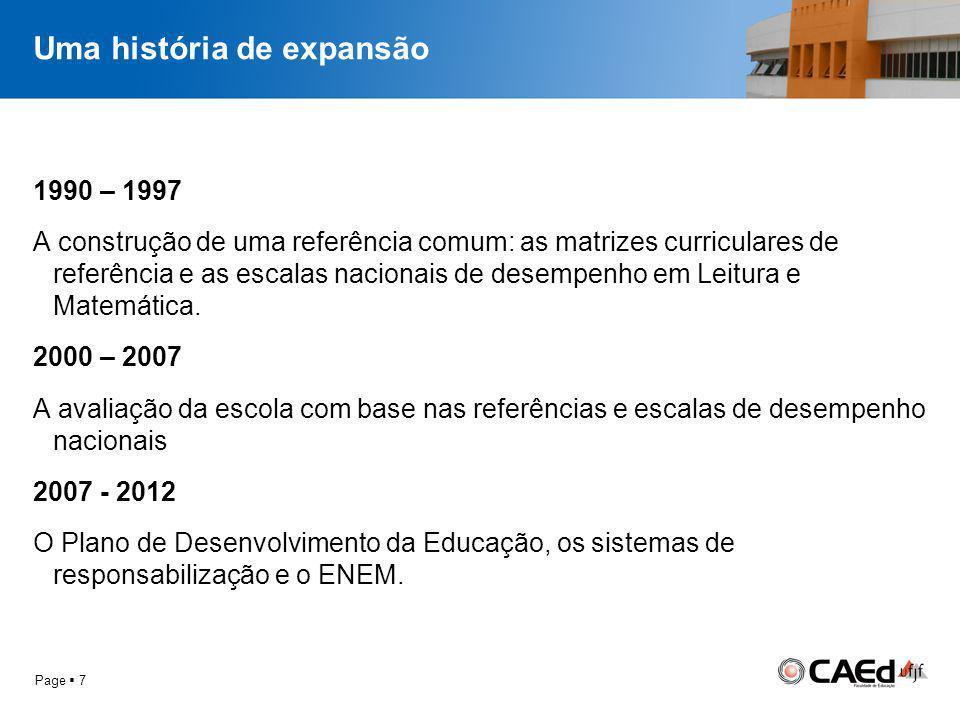 Um veículo para um novo repertório 1.As matrizes curriculares de referência e as escalas nacionais de proficiência: associação entre o currículo e expectativas de aprendizagem 2.