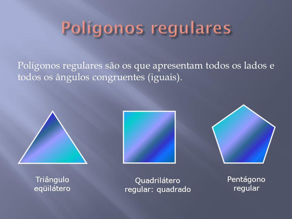 Representando por a i a medida do ângulo interno de um polígono regular de n lados e por a e a medida do ângulo externo, podemos definir que: