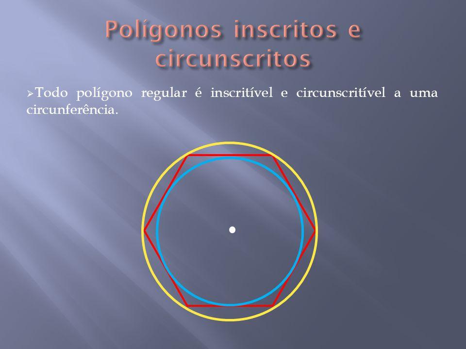 Triângulo Equilátero inscrito R a A B C 60° O l3l3 l3l3 l3l3 M