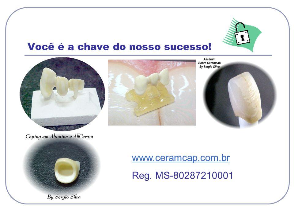 Você é a chave do nosso sucesso! www.ceramcap.com.br Reg. MS-80287210001