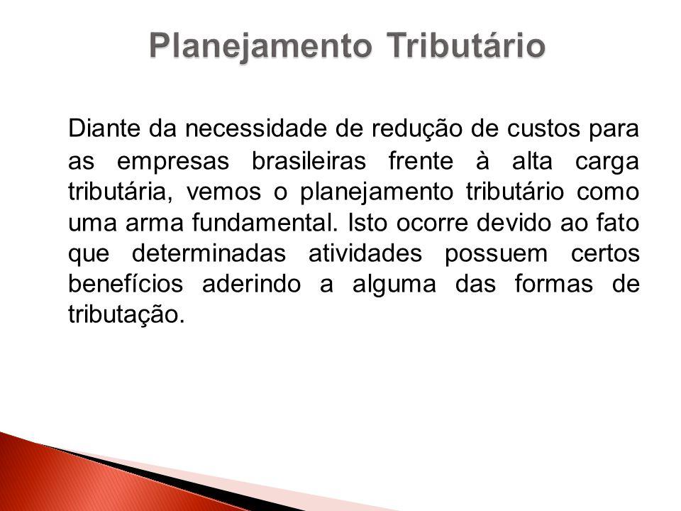 Diante da necessidade de redução de custos para as empresas brasileiras frente à alta carga tributária, vemos o planejamento tributário como uma arma