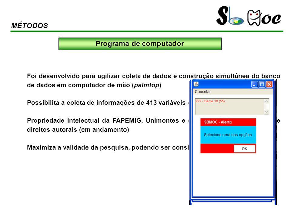 Foi desenvolvido para agilizar coleta de dados e construção simultânea do banco de dados em computador de mão (palmtop) Possibilita a coleta de inform