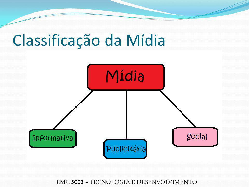 Classificação da Mídia EMC 5003 – TECNOLOGIA E DESENVOLVIMENTO