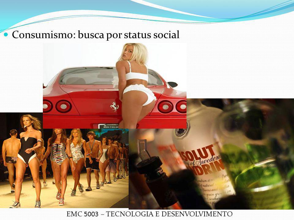 Consumismo: busca por status social EMC 5003 – TECNOLOGIA E DESENVOLVIMENTO