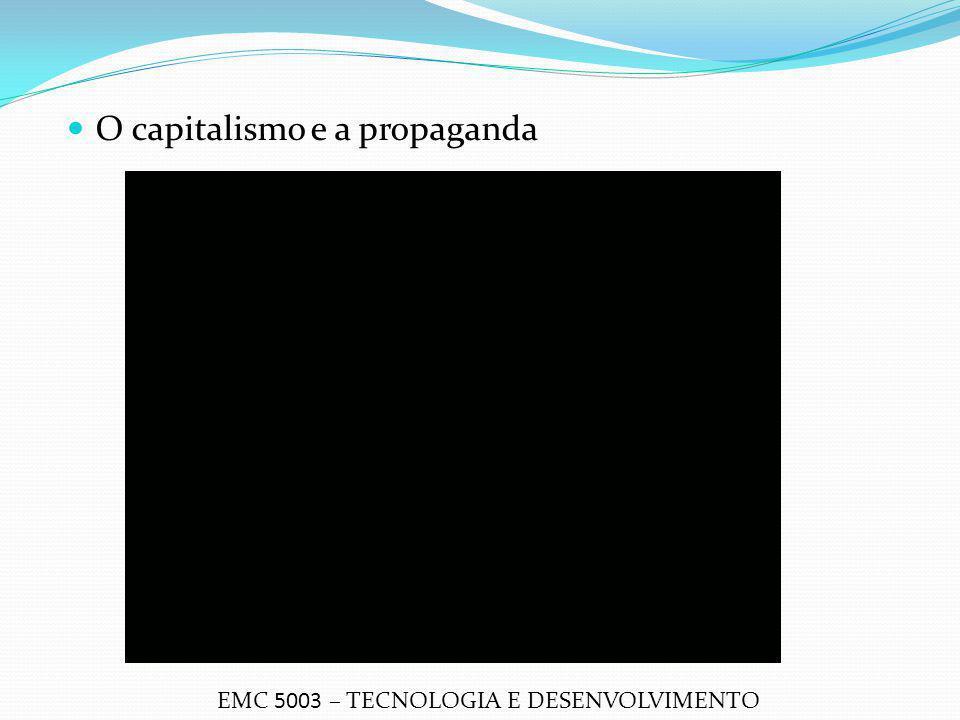 O capitalismo e a propaganda EMC 5003 – TECNOLOGIA E DESENVOLVIMENTO