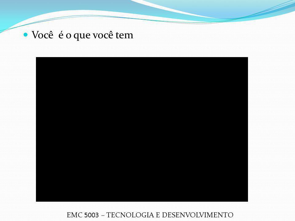 Você é o que você tem EMC 5003 – TECNOLOGIA E DESENVOLVIMENTO