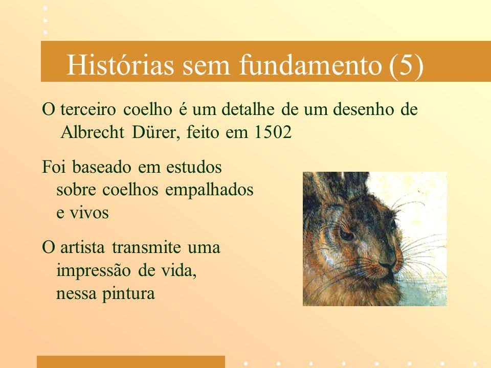 Histórias sem fundamento (5) O terceiro coelho é um detalhe de um desenho de Albrecht Dürer, feito em 1502 Foi baseado em estudos sobre coelhos empalh