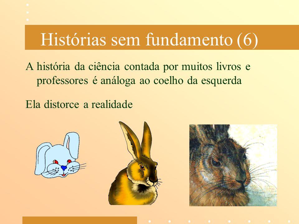Histórias sem fundamento (6) A história da ciência contada por muitos livros e professores é análoga ao coelho da esquerda Ela distorce a realidade