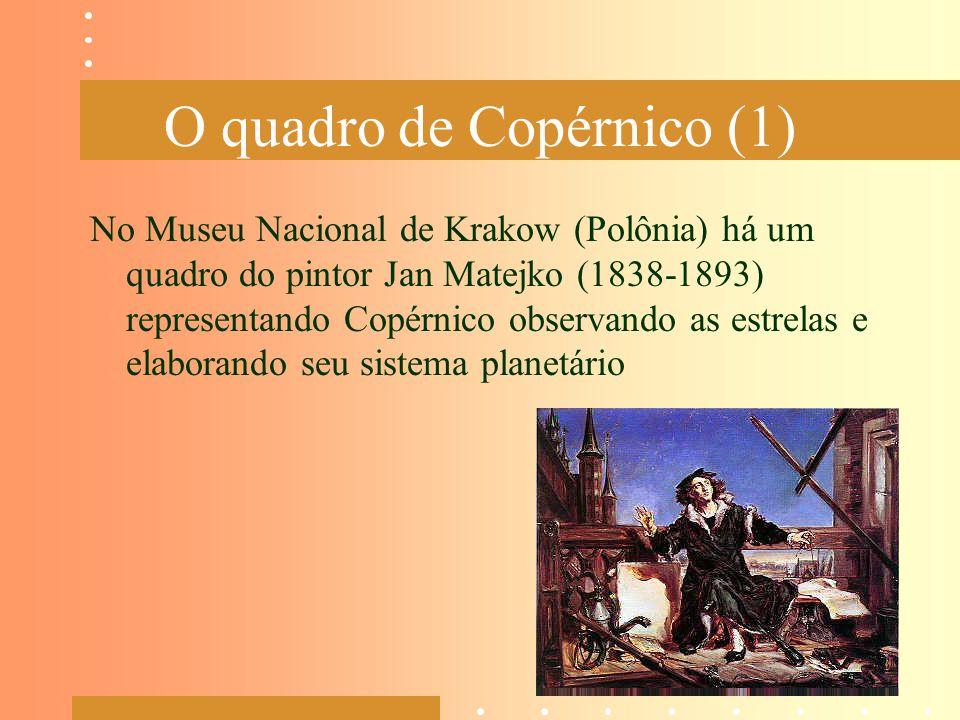 O quadro de Copérnico (1) No Museu Nacional de Krakow (Polônia) há um quadro do pintor Jan Matejko (1838-1893) representando Copérnico observando as e