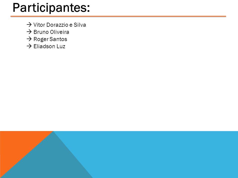 Participantes:  Vitor Dorazzio e Silva  Bruno Oliveira  Roger Santos  Eliadson Luz