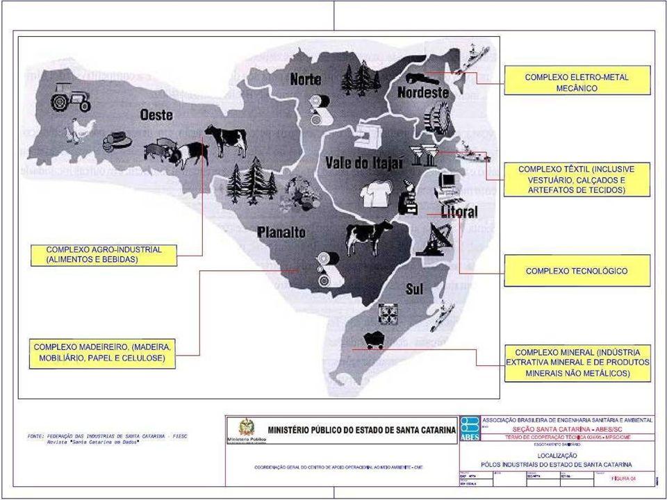 O MAPA DA DEGRADAÇÃO DOS RECURSOS HÍDRICOS NO ESTADO DE SANTA CATARINA  REGIÃO OESTE EM TORNO DE 60% DOS DEJETOS SUINOS (CERCA DE 3,5 MILHÕES DE CABEÇA) SÃO LANÇADOS NOS RIOS.