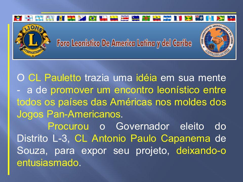CL Milton Segala Pauletto PAN 1970 Empolgou-se e emocionou-se com o espírito de camaradagem, o entendimento e o respeito entre os jovens participantes, vindos de todas as partes da América Latina.