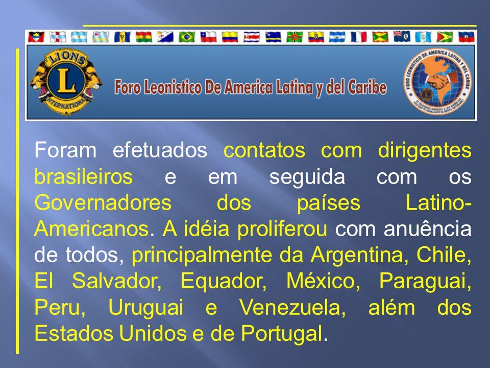 O CL Pauletto trazia uma idéia em sua mente - a de promover um encontro leonístico entre todos os países das Américas nos moldes dos Jogos Pan-Americanos.