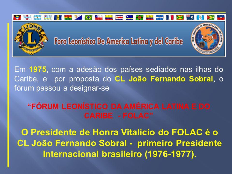 A Mesa Principal estava composta pelo Embaixador do Paraguai, J.W.Benitez; o Secretário Geral do Ministério das Relações Exteriores, Embaixador Mário Borges da Fonseca; o representante do Governador do Estado da Guanabara; o Presidente do Conselho Nacional de Governadores do Distrito Múltiplo L, CL Sylvio Bertoli; o Governador do Distrito L-3, e Coordenador do I FOLAL, CL Alexandre Campos da Costa e Silva; o idealizador e Diretor Geral do FOLAL, CL Milton Segala Pauletto; o Presidente do Lions Clube Rio de Janeiro – Mater Clube do Brasil, CL Carl Heinz Bartoch; o Fundador do Leonismo no Peru e ex-Governador, CL Gustavo Eguren; e o CL Juan Esteban Rivera Governador do Distrito B-7 e representante do CNG do Distrito B – México.