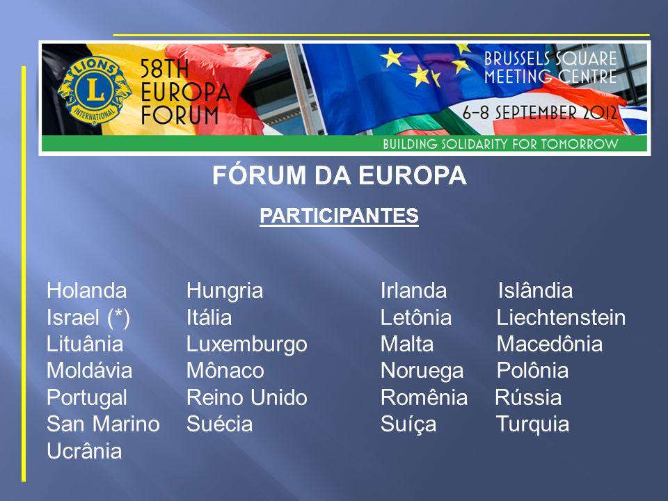 FÓRUM DA EUROPA PARTICIPANTES Alemanha Andorra Áustria Bélgica Bósnia Bulgária Croácia República Checa Chipre Dinamarca Eslováquia Eslovênia Espanha Estônia Finlândia França Gibraltar Grécia
