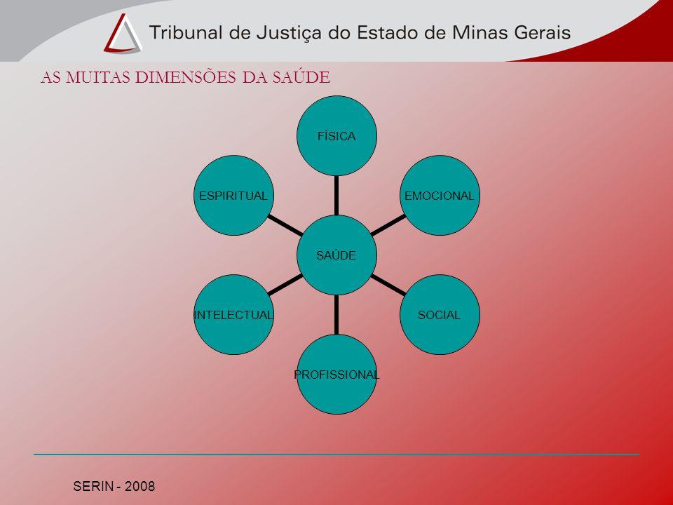 AS MUITAS DIMENSÕES DA SAÚDE SAÚDE FÍSICAEMOCIONALSOCIALPROFISSIONALINTELECTUALESPIRITUAL SERIN - 2008
