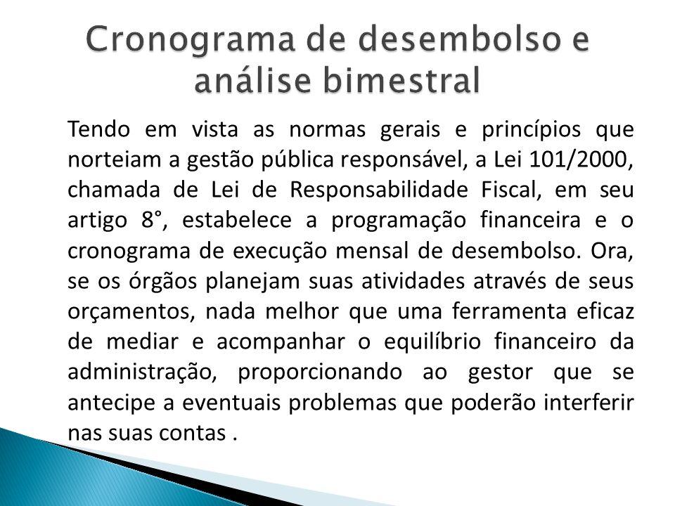 Tendo em vista as normas gerais e princípios que norteiam a gestão pública responsável, a Lei 101/2000, chamada de Lei de Responsabilidade Fiscal, em