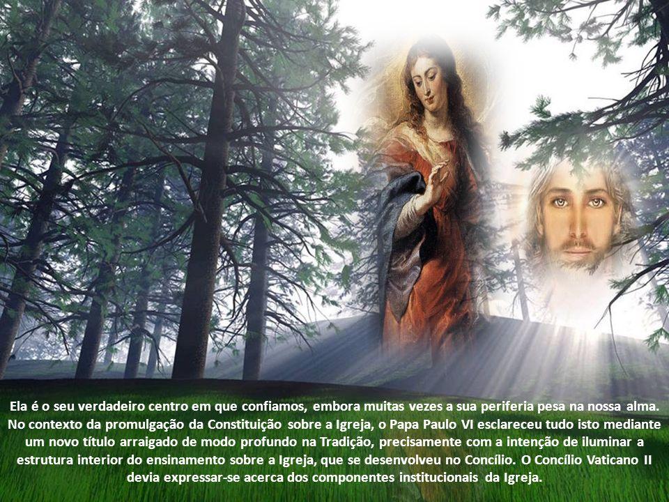 A Mãe da Cabeça é também a Mãe de toda a Igreja; ela é, por assim dizer, totalmente despojada de si mesma; entregou-se inteiramente a Cristo e, com El