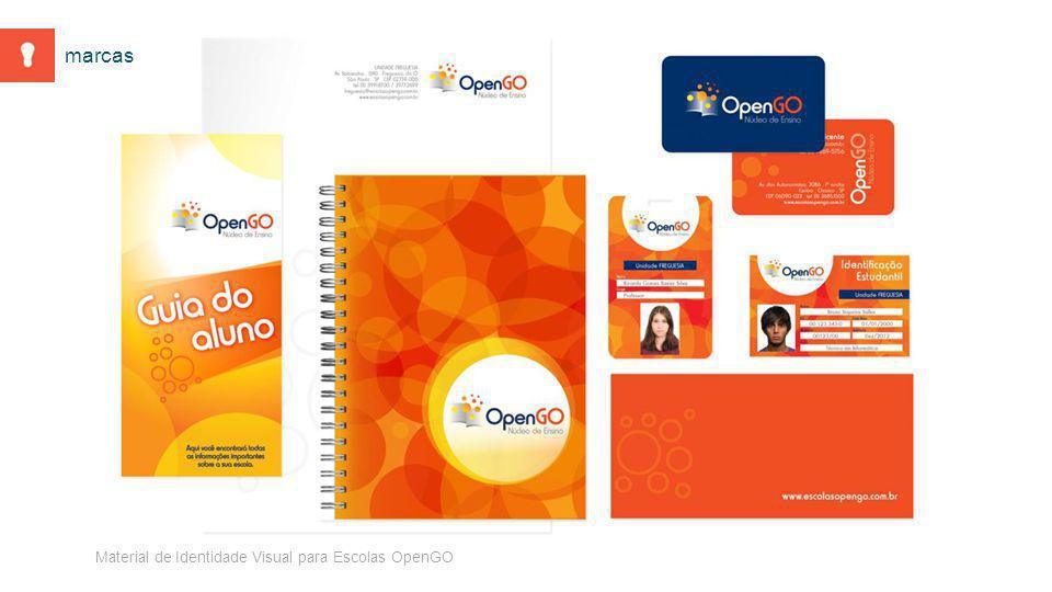 Material de Identidade Visual para Escolas OpenGO marcas