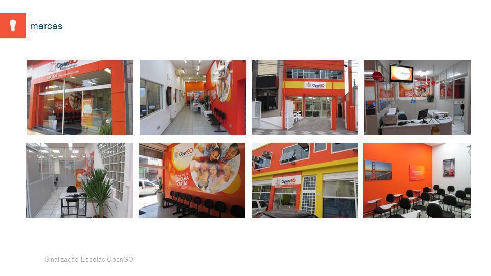 Sinalização Escolas OpenGO marcas