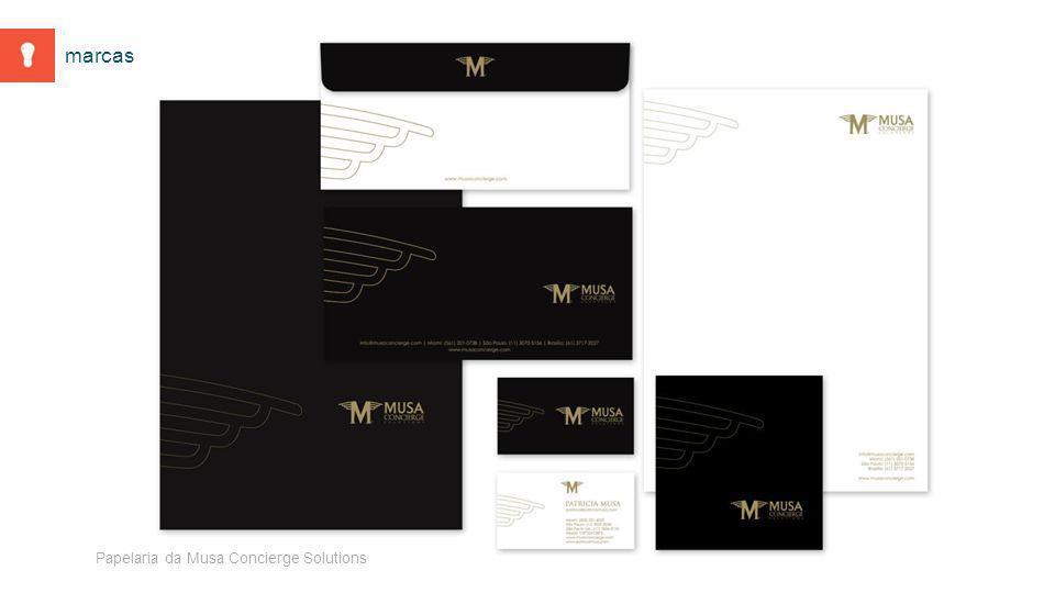 Papelaria da Musa Concierge Solutions marcas