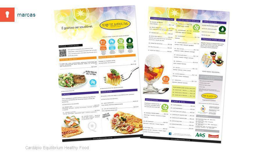 Cardápio Equilibrium Healthy Food marcas