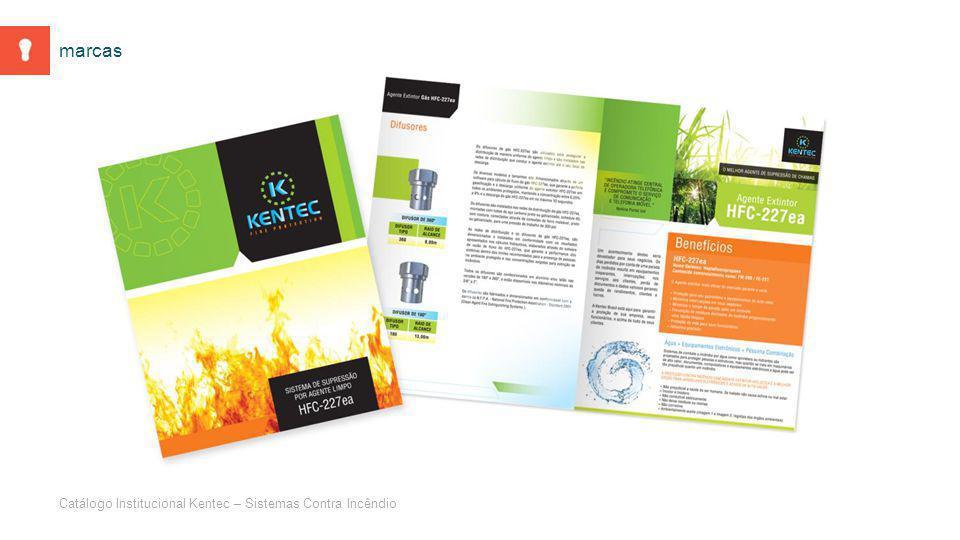 Catálogo Institucional Kentec – Sistemas Contra Incêndio marcas
