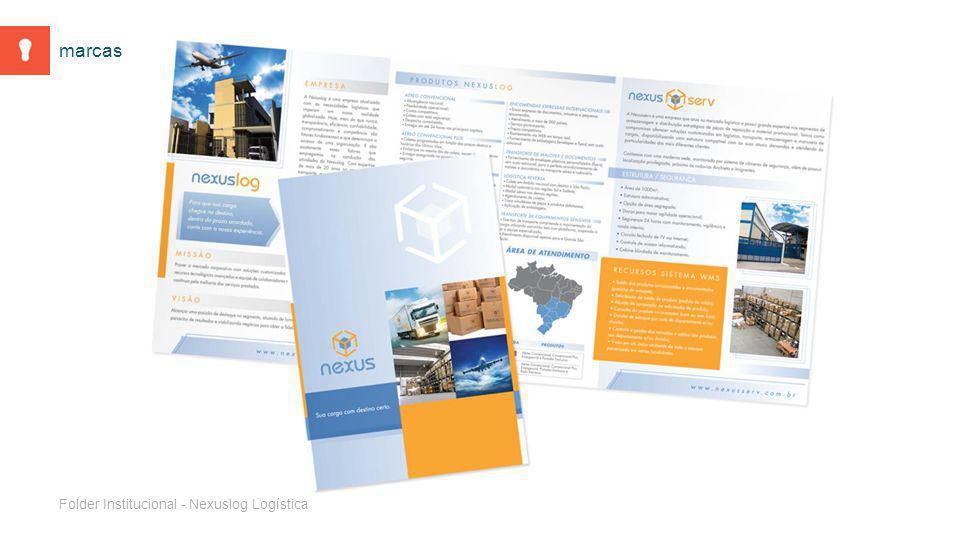 Folder Institucional - Nexuslog Logística marcas