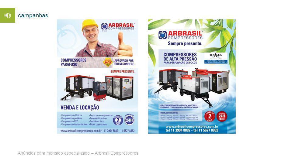 campanhas Anúncios para mercado especializado – Arbrasil Compressores