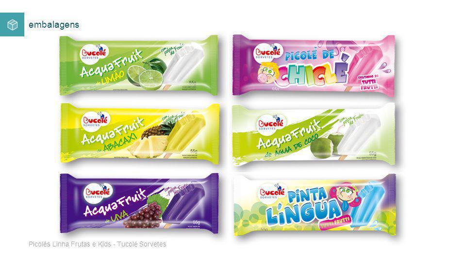 Picolés Linha Frutas e Kids - Tucolé Sorvetes
