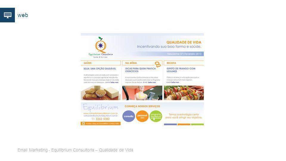 web Email Marketing - Equilibrium Consultoria – Qualidade de Vida