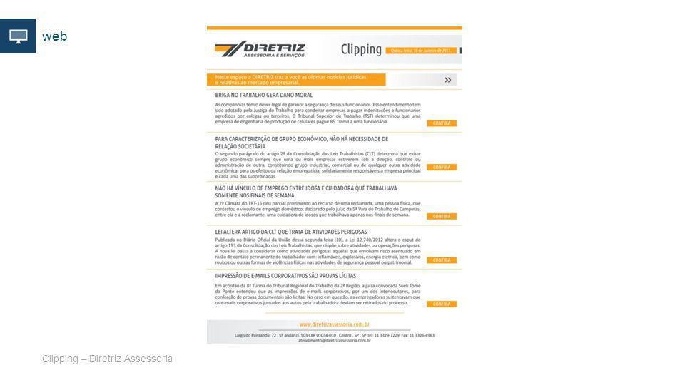 web Clipping – Diretriz Assessoria