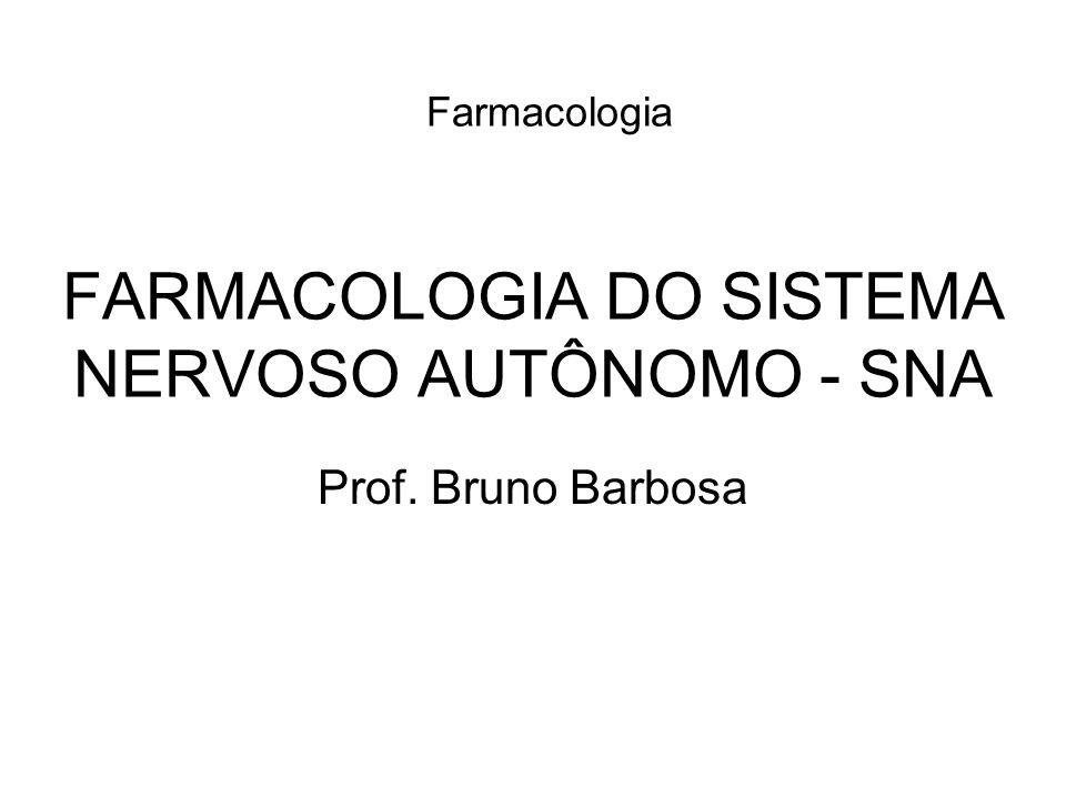 FARMACOLOGIA DO SISTEMA NERVOSO AUTÔNOMO - SNA Farmacologia Prof. Bruno Barbosa
