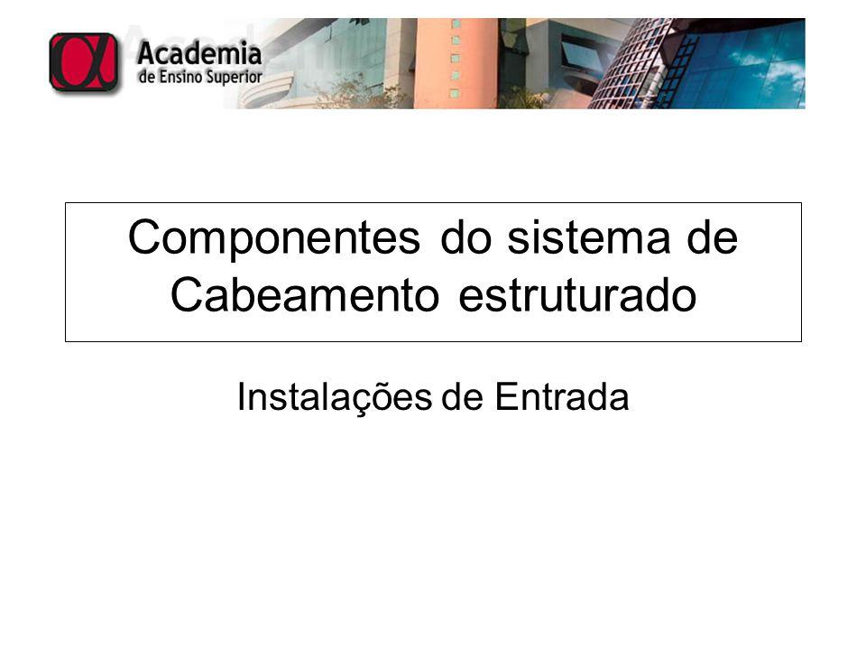 Componentes do sistema de Cabeamento estruturado Instalações de Entrada