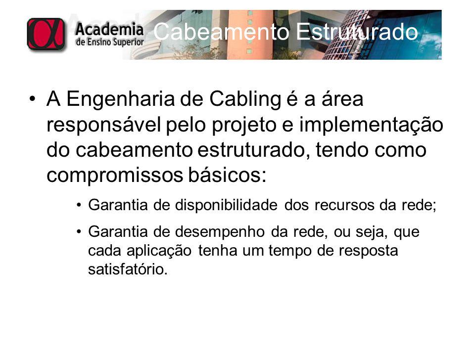 A Engenharia de Cabling é a área responsável pelo projeto e implementação do cabeamento estruturado, tendo como compromissos básicos: Garantia de disp