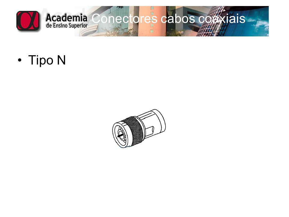 Conectores cabos coaxiais Tipo N