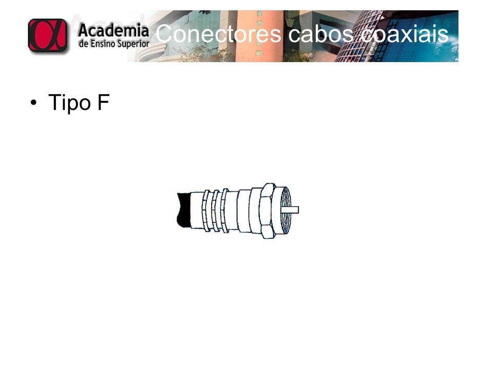 Conectores cabos coaxiais Tipo F