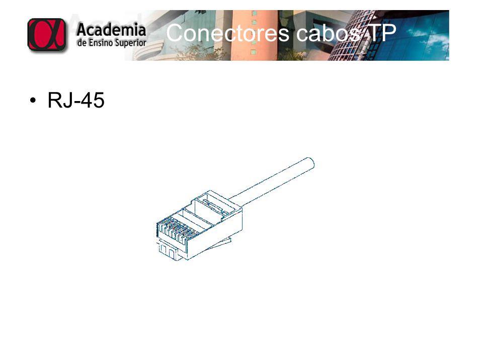 Conectores cabos TP RJ-45
