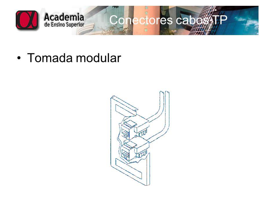 Conectores cabos TP Tomada modular