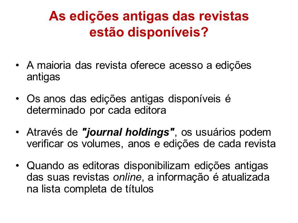 Posso baixar revistas ou livros completos? Não. Usuários não devem baixar revistas ou livros completos Usuários podem baixar e salvar 15% de artigos o