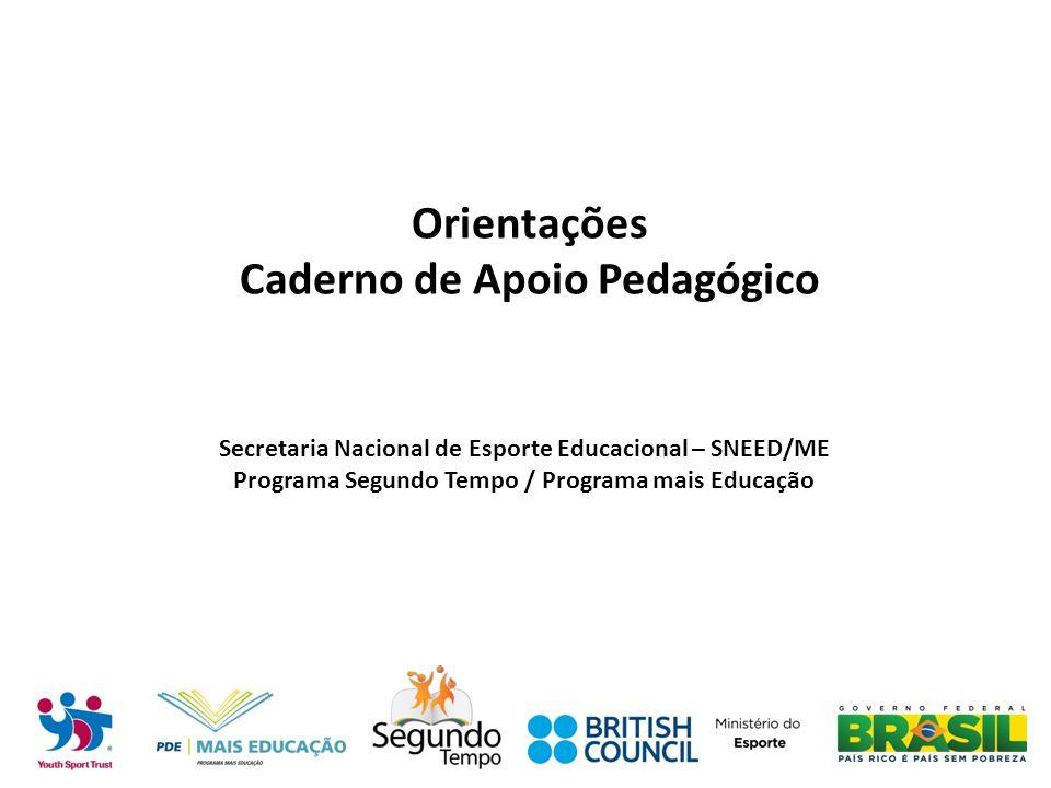Orientações Caderno de Apoio Pedagógico Secretaria Nacional de Esporte Educacional – SNEED/ME Programa Segundo Tempo / Programa mais Educação